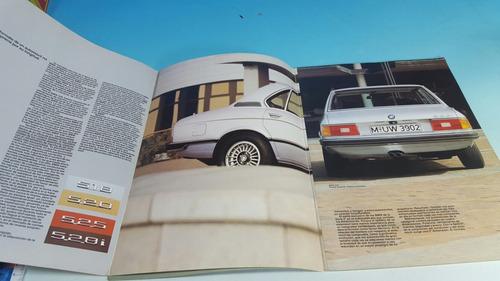 antiguo catalogo original de venta de autoviles bmw