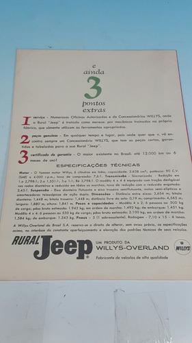 antiguo catalogo original estanciera jeep desplegable