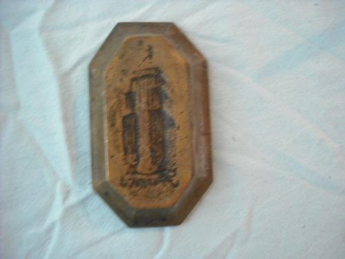 antiguo cenicero de bronce solido figura edificio  frank (e2