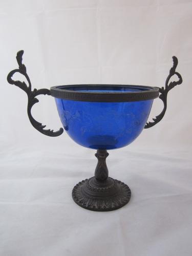 antiguo centro de mesa cristal bohemia