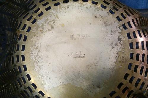 antiguo centro de mesa frutera alpaca usa-tomo art