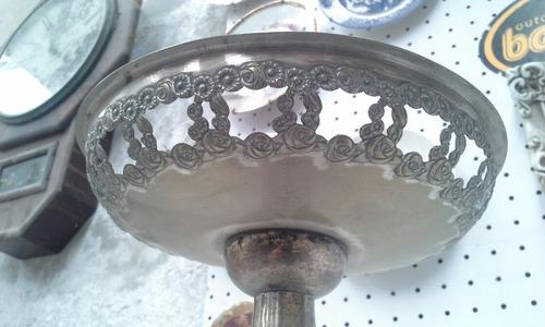 antiguo centro de mesa frutera plata gutenberg lenk austria