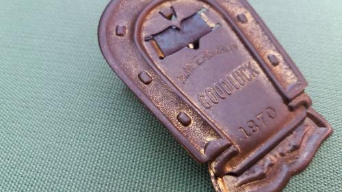 antiguo clip herradura apreta papel 1870 england