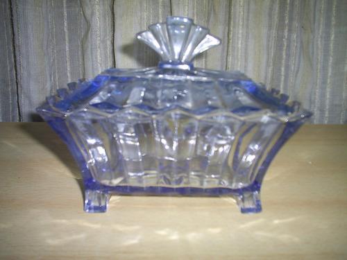 antiguo cofre de vidrio facetado  17x10x12cmts excelente