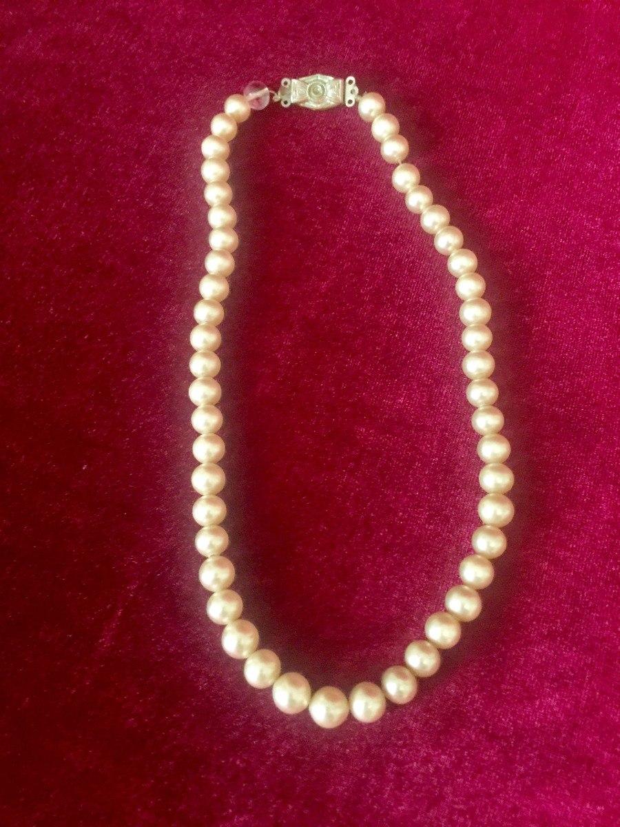 2770a26c05d6 antiguo collar de perlas de fantasía. Cargando zoom.