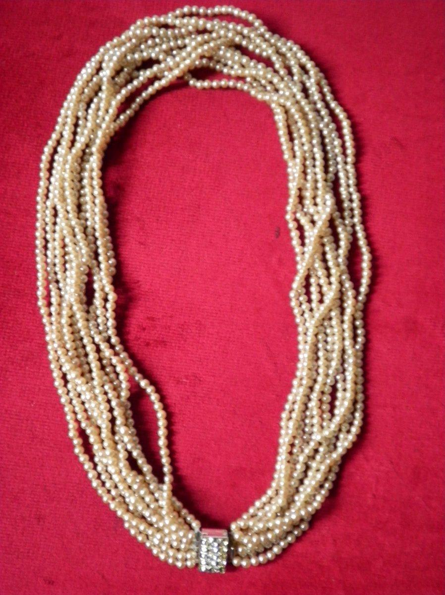 f51010cc9c49 antiguo collar perlas calidad 10 vueltas 56cm imperdible. Cargando zoom... antiguo  collar perlas. Cargando zoom.