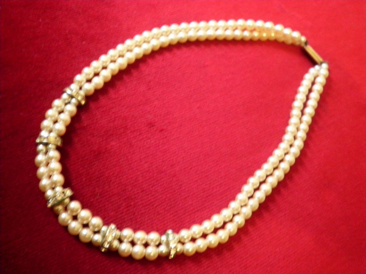 99e993d90766 antiguo collar perlas doble vuelta majorica 45cm imperdible. Cargando zoom.
