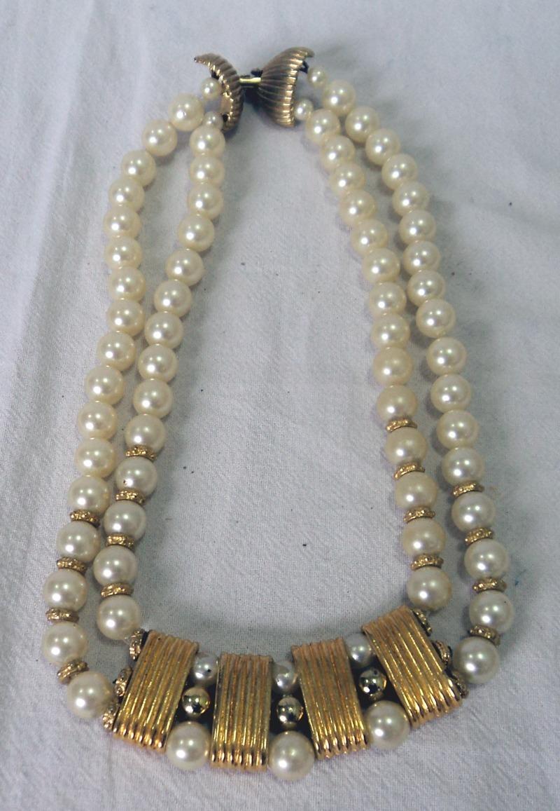 b4002eeadf5f antiguo collar retro vintage de perlas fantasia gargantilla. Cargando zoom.