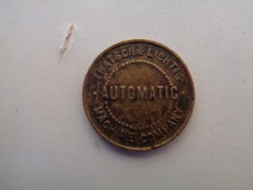 antiguo cospel token juego de maquina