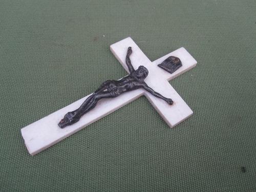 antiguo crucifijo religion catolica cristo metalico
