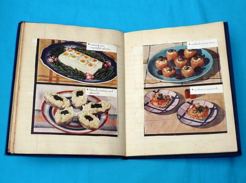 antiguo cuaderno de recetas de cocina internacional variada