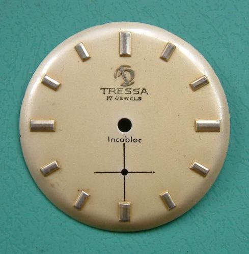 antiguo cuadrante para reloj pulsera tressa