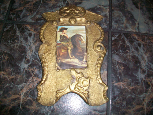 antiguo cuadrito, marco de cartón prensado grueso