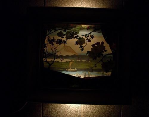 antiguo cuadro con luz