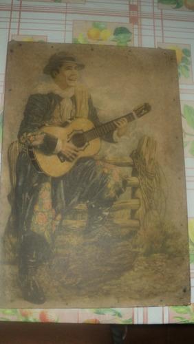 antiguo cuadro de gardel