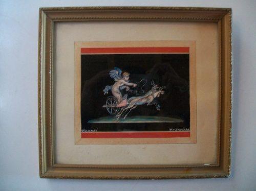 antiguo cuadro  decorativo de coleccion