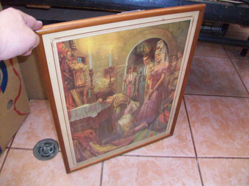 antiguo cuadro, el arrepentido poster enmarcado, de 48 x 25