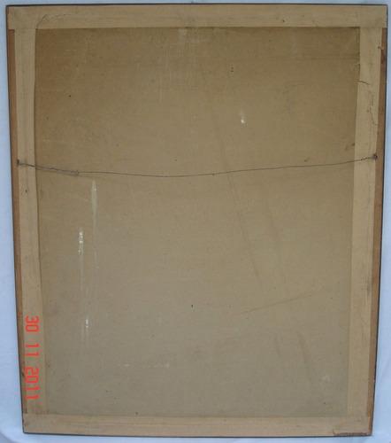 antiguo cuadro  lamina marco de madera vidrio (3837a)