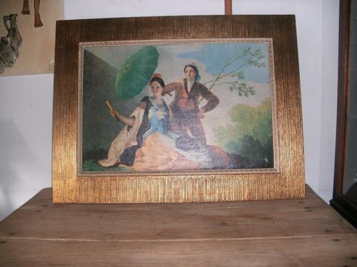 antiguo cuadro marco frances