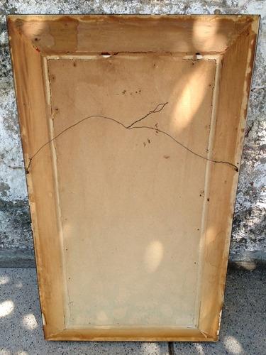 antiguo cuadro / pintura flores en marco de madera firmado