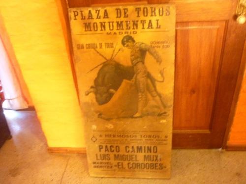 antiguo cuadro plaza de toros madrid
