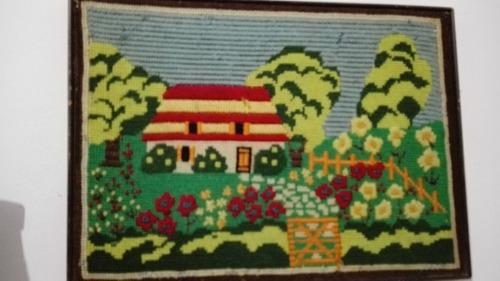 antiguo cuadro tejido