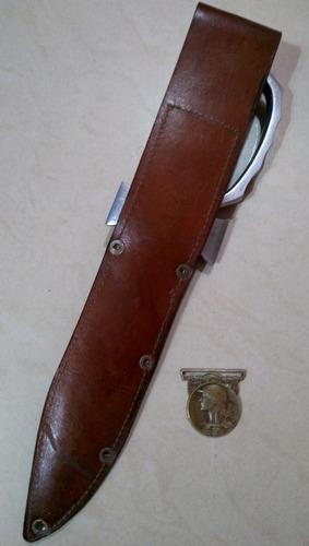 antiguo cuchillo bowie comando paracaidista. sable bayoneta.