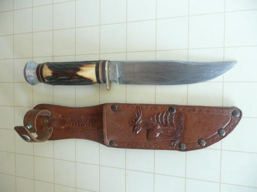 antiguo cuchillo bowie los petizos solingen germany