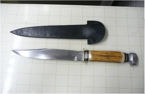 antiguo cuchillo esser solingen acero al carbono