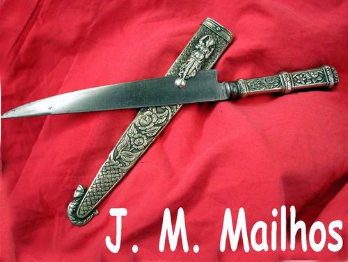 antiguo cuchillo juan mailhos acier fondu  plateria criolla