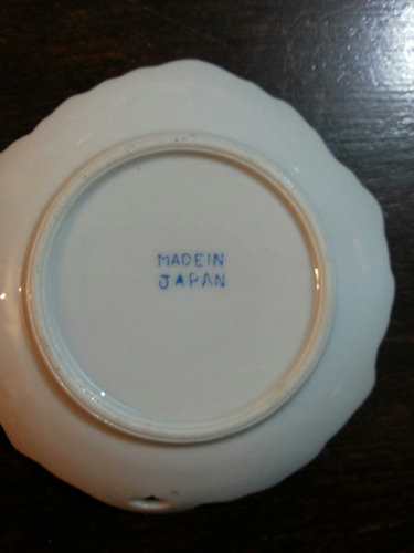 antiguo despojador porcelana japón,10 cm por 10 cm.