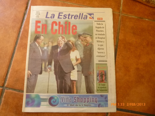 antiguo diario la estrella viernes 3 marzo 2000 llega pinoch