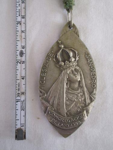antiguo dije medalla religiosa san ignacio de loyola