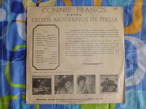 antiguo disco de coleccion, connie francis, en italiano
