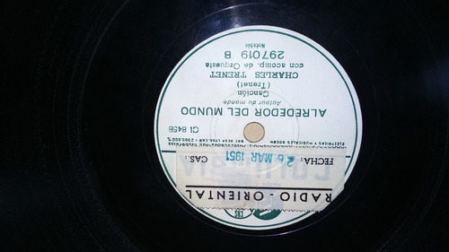 antiguo disco de pasta 78 rpm del año 1946