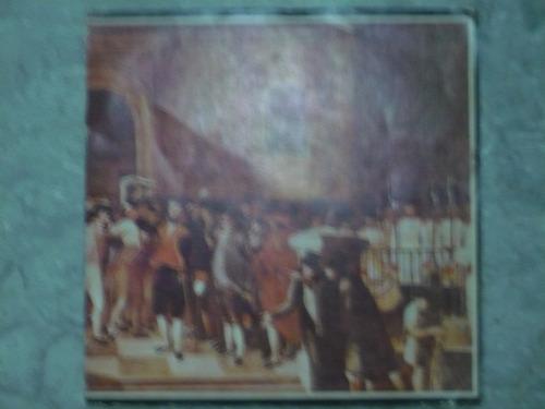 antiguo disco del himno nacional en 45 rpm de vinil