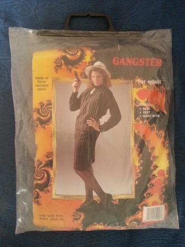 antiguo disfraz para adulto gangster para dama
