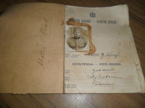 antiguo¡ documento¡ militar¡ ex yugoslavia 1927 coleccion¡¡