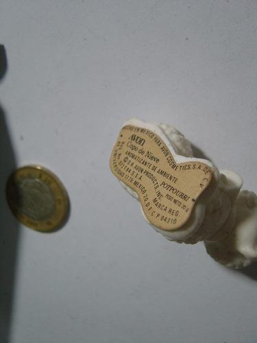 antiguo empaque de aromatizante copo de nieve borrego avón