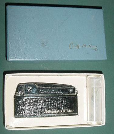 antiguo encendedor cyma light impecable caja sin usar