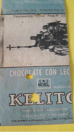 antiguo envoltorio chocolatin kelito de los años 40