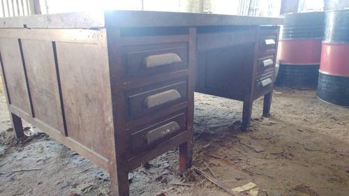 antiguo escritorio de roble,