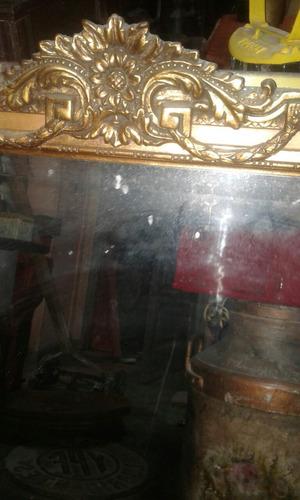 antiguo espejo biselado