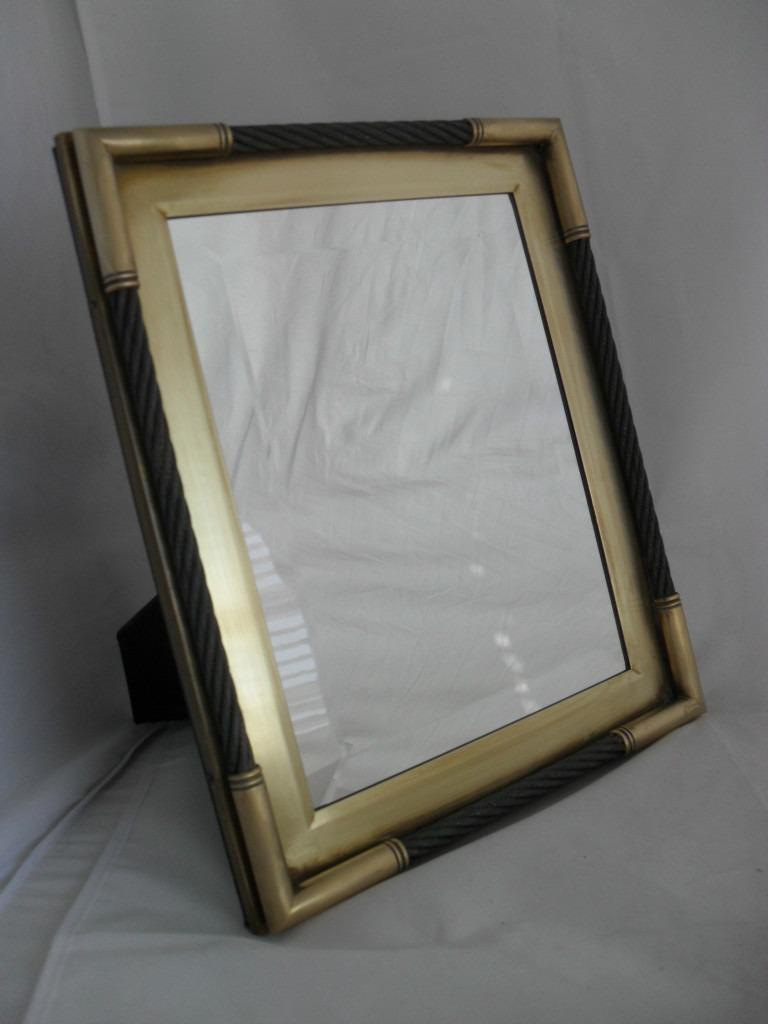 Antiguo espejo biselado marco de bronce en for Espejo con marco biselado