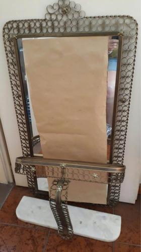 antiguo espejo colonial dressoire