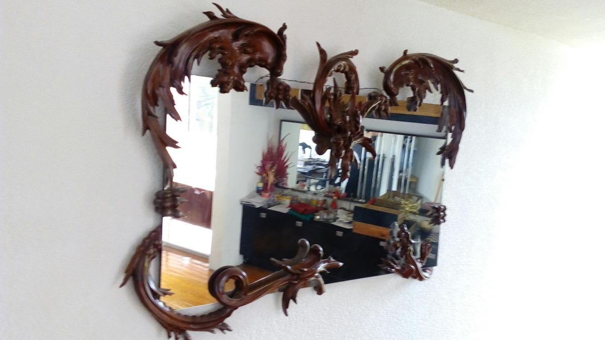 Antiguo Espejo Con Marco De Dragon - $ 200,000.00 en Mercado Libre