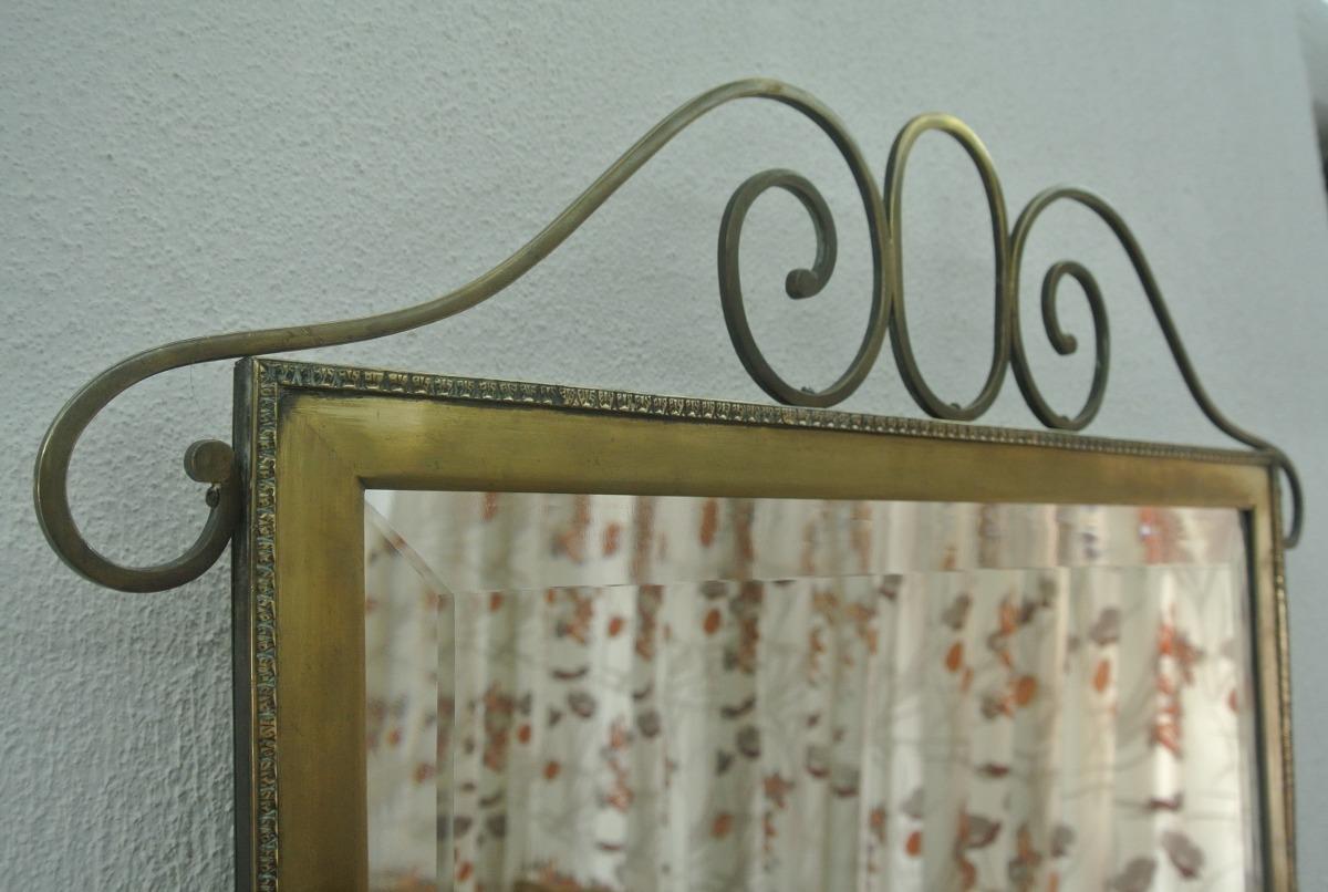 Antiguo espejo de cristal marco de bronce en for Espejo marco cristal