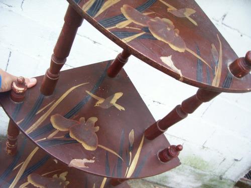 antiguo esquinero repisa estilo japonés - desarmable