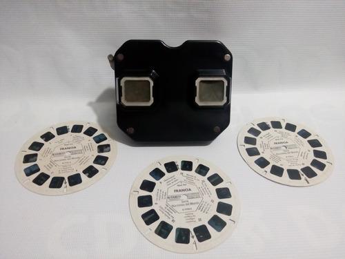 antiguo estereoscopio visor viewmaster sawyer 1946 bakelita