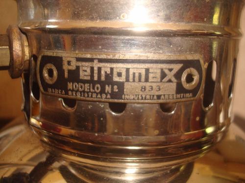 antiguo farol a mantilla petromax en caja original argentino